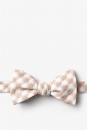 Kingman Beige Self-Tie Bow Tie