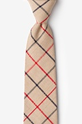 Beige Cotton Maricopa Extra Long Tie
