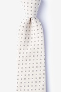 Beige Cotton Ross Tie