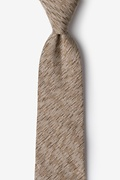 Beige Cotton Springfield Extra Long Tie