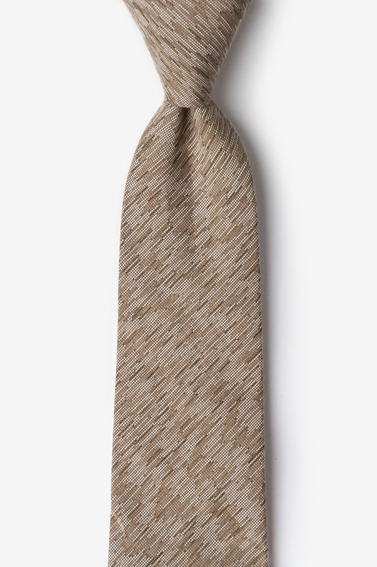 Springfield Beige Extra Long Tie Photo (0)