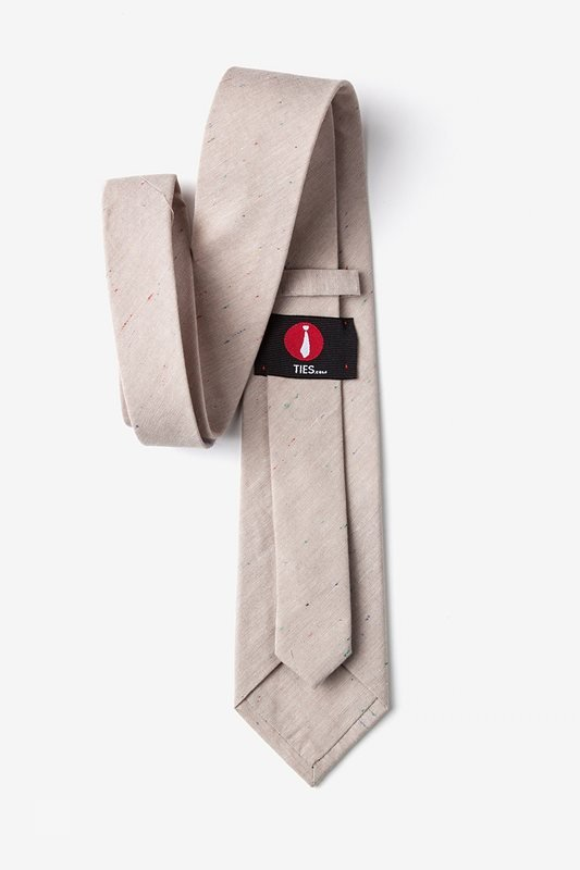 Teague Beige Extra Long Tie Photo (2)