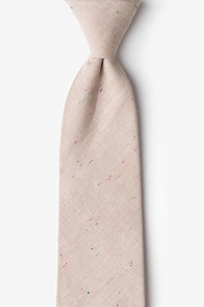 Teague Beige Extra Long Tie