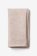 Beige Cotton Teague Pocket Square