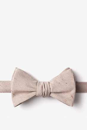 Teague Beige Self-Tie Bow Tie