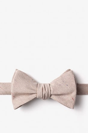 _Teague Beige Self-Tie Bow Tie_