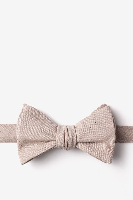 Teague Beige Self-Tie Bow Tie Photo (0)