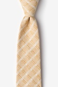 Beige Cotton Yakima Extra Long Tie