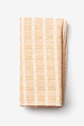 Beige Cotton Yakima Pocket Square