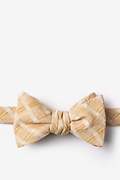 Beige Cotton Yakima Self-Tie Bow Tie
