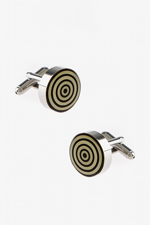 Thick Round Circles Cufflinks