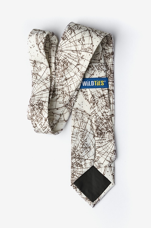 Vintage Star Chart Extra Long Tie Photo (1)