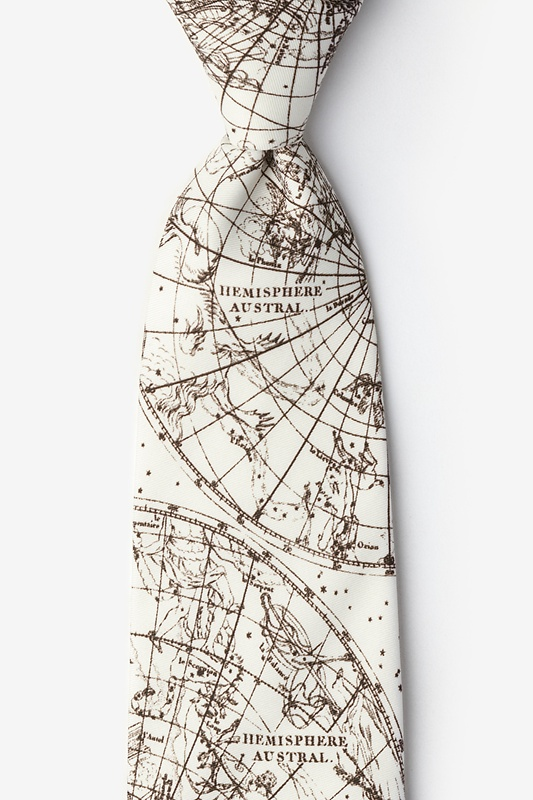 Vintage Star Chart Extra Long Tie Photo (0)
