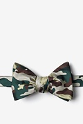 Woodland Camo Beige Self-Tie Bow Tie Photo (0)