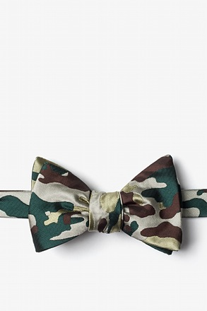 Woodland Camo Self-Tie Bow Tie