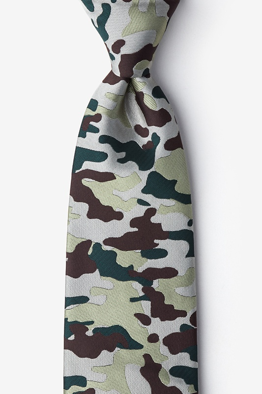 Woodland Camo Beige Tie Photo (0)