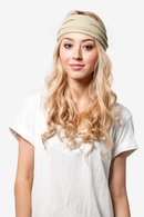 Beige Polyester Basic Stretchy Headband