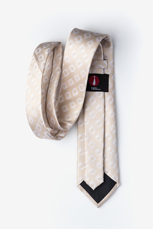 Capri Beige Extra Long Tie Photo (1)