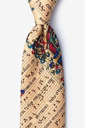 Illuminated Music Score Tie