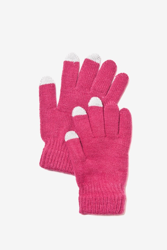 Texting Berry Gloves by Scarves.com