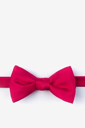 Berry Self-Tie Bow Tie