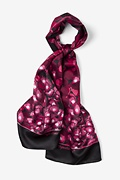 Berry Silk Hepatitis C Oblong Scarf