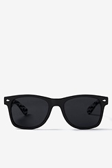 Black Acetate Mustache Sunglasses