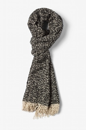 Black Baltimore Heathered Scarf