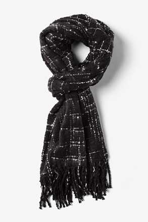 Black Chicago Woven Scarf