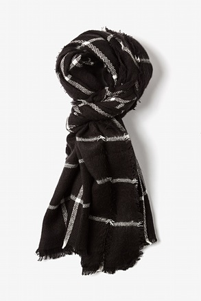 Black Cologne Gingham Scarf