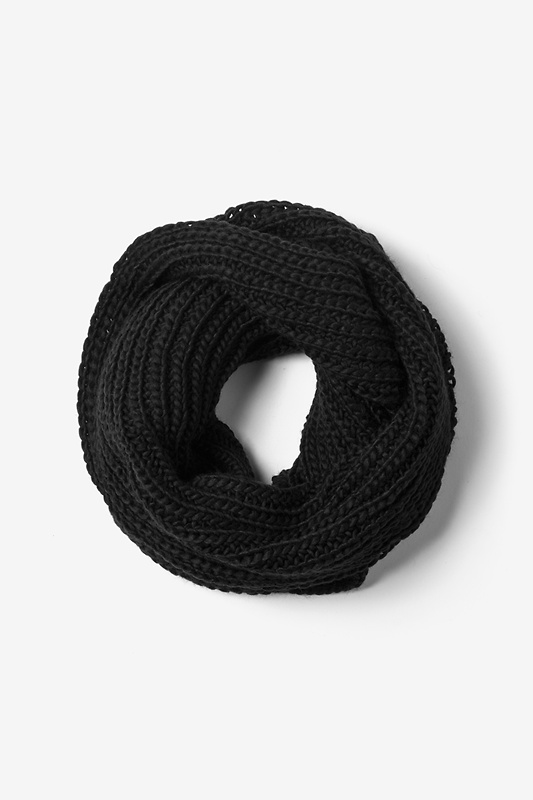 Black Concord Knit Infinity Scarf by Scarves.com