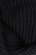 Black Concord Knit Infinity Scarf