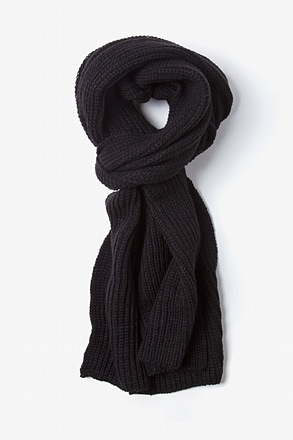 Black Kingston Knit Scarf