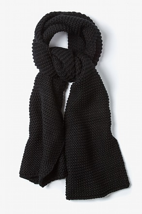 Black Liverpool Knit Scarf