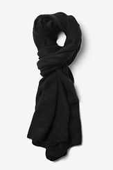 Black Acrylic Black Sheffield Scarf
