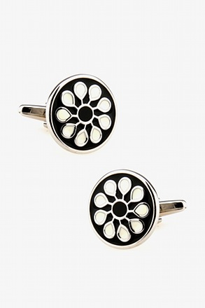 Ornamental Round Cluster Cufflinks