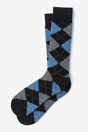 _Argyle Assassin Black Sock_