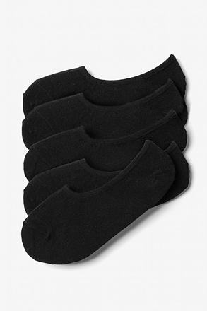_Black No-Show 5 Sock Pack_