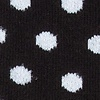 Black Carded Cotton Buena Park Polka Dot Sock