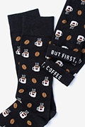 But First, Coffee Black Sock