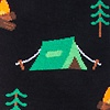 Black Carded Cotton Camping Sock