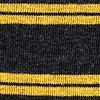 Black Carded Cotton Culver Stripe