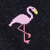 Black Carded Cotton Flamingo Sock