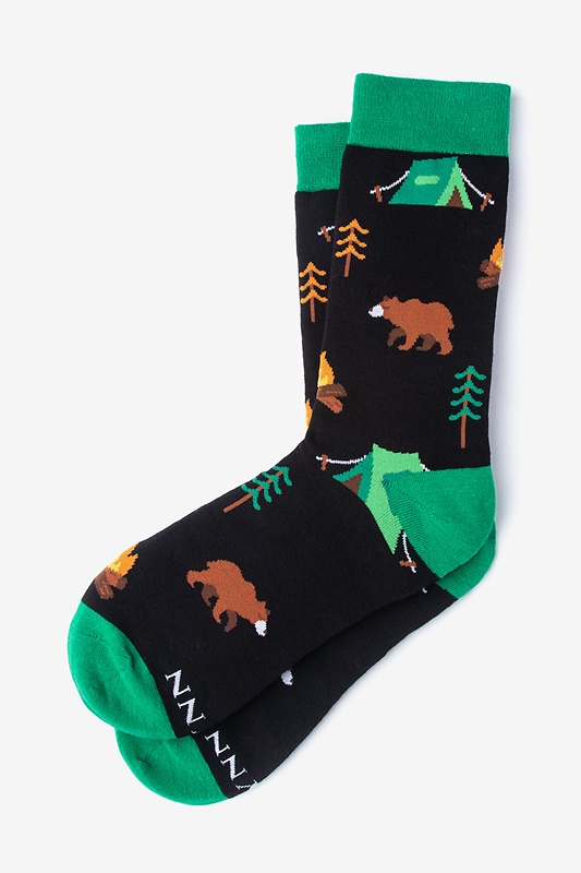 Gone Campin' Black Women's Sock Photo (0)