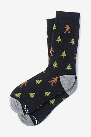 Gone Sasquatchin' Black Women's Sock