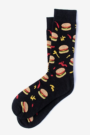 _Hamburger Black Sock_