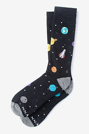 _I Need My Space Black Sock_