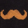 Black Carded Cotton Mustache Sock
