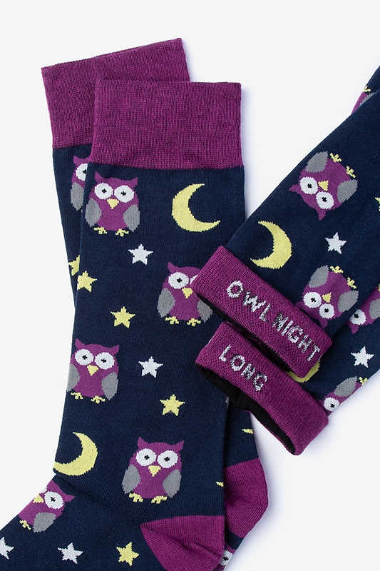 Owl Black Sock Photo (1)
