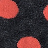 Black Carded Cotton Pasadena Polka Dot Sock